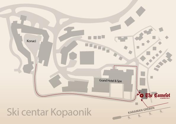 Mapa Kopaonik
